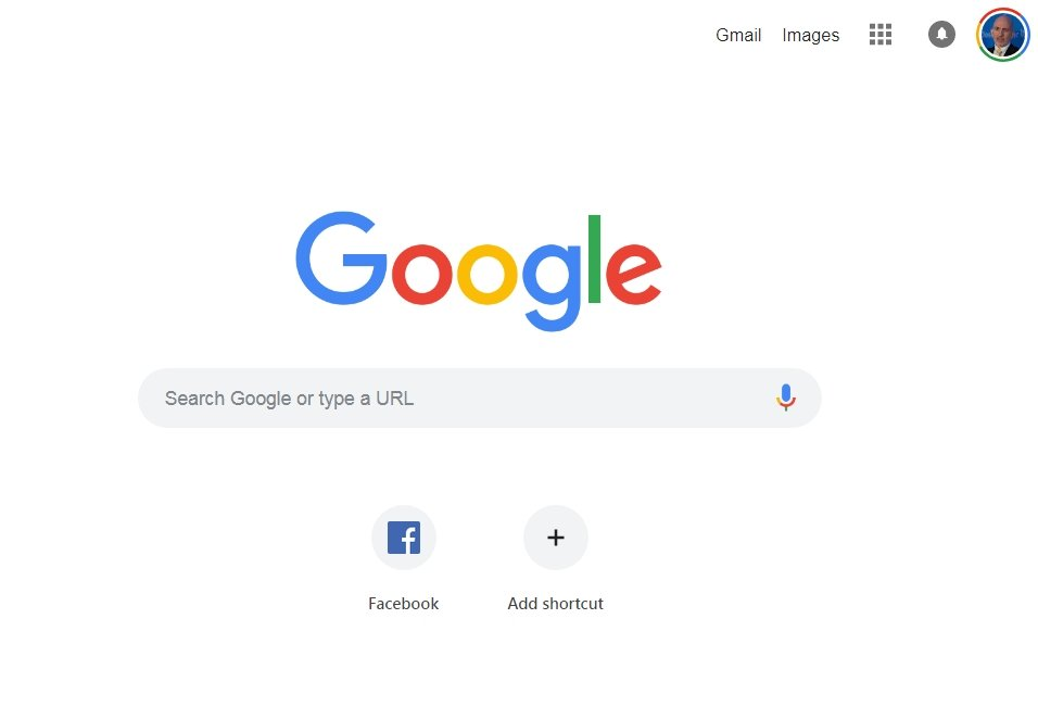 google home page rendered